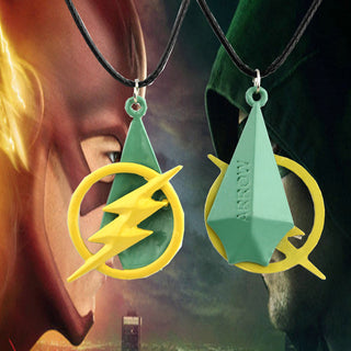 The Flash With Green Lantern  Necklace