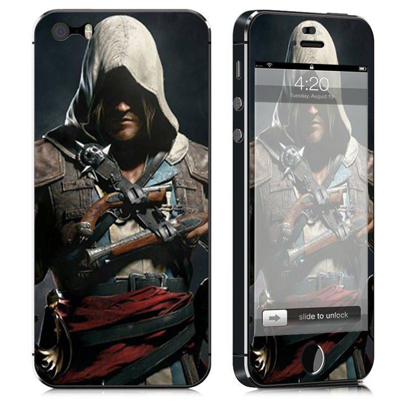 Assassins stickers cover for iPhone 5s