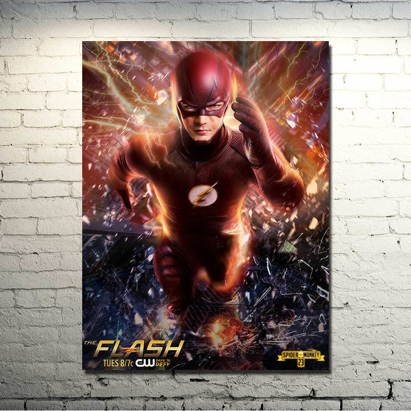 The Flash Barry Silk Poster