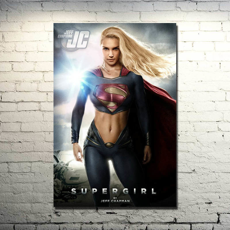 Supergirl Silk Poster