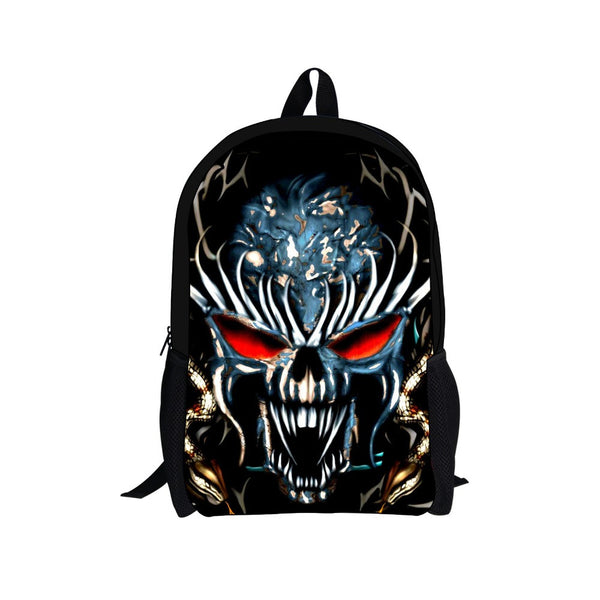 New Canvas Ghost Rider Backpack School Bags for Teenagers