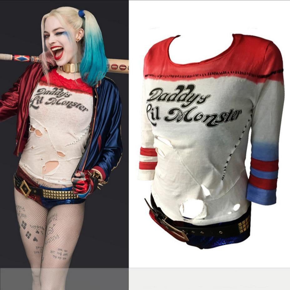 Harley Quinn T-Shirt Cosplay Costume Tees