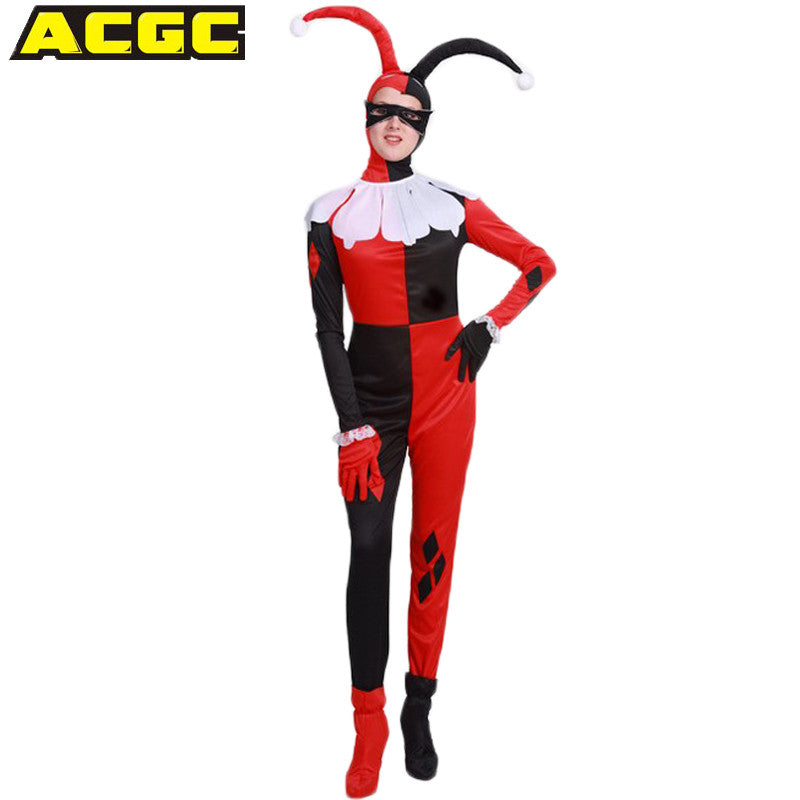 Suicide Squad Harley Quinn Costume Women Adult Clown Costume ...