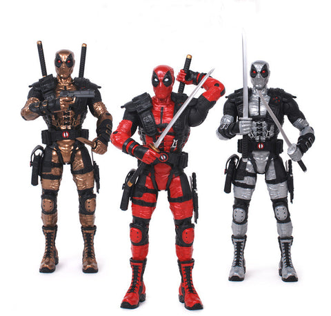Deadpool Loose Action Figure Collection Model Toy 3 Color 10""