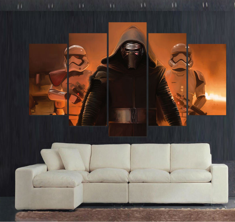 5 panel large HD printed painting S
