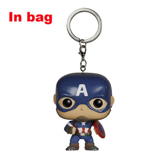 FUNKO POP Pocket Marvel Avengers Keychain Hulk Iron Man Captain America deadpool Thor PVC Action Figure Spiderman KeyRing Toy