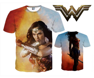 CUSTOM MADE Wonder Woman 3D T-Shirt