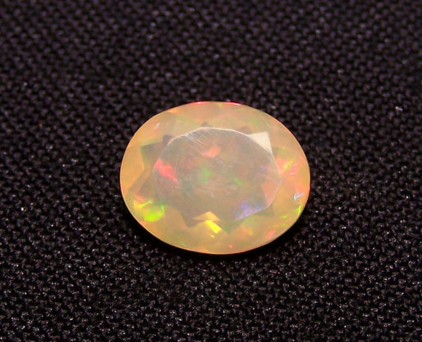 2.20 cts Insane Metallic Rainbow Fire Color Play Ethiopian Welo Opal Faceted Oval Loose Gemstone AAA