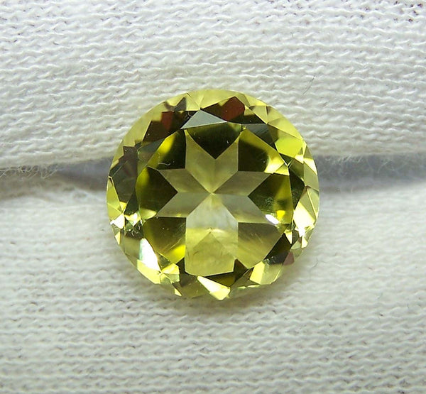 Masterpiece Collection : Amazing Lemon Topaz Highlight Brilliant Cut, Calibrated 12 mm Round, 100 % Natural Loose Gemstone Per Wholesale Sample Order Lot/ Parcel