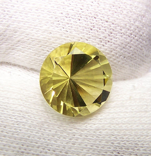 Masterpiece Collection :  Amazing Lemon Topaz Brilliant Diamond Cut, Calibrated 12 mm Round, 100 % Natural Loose Gemstone Per Wholesale Sample Order Lot/ Parcel