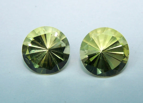 Masterpiece Collection :  Amazing Lemon Topaz Brilliant Diamond Cut, Calibrated 10 mm Round, 100 % Natural Loose Gemstone Per Wholesale Sample Order Lot/ Parcel