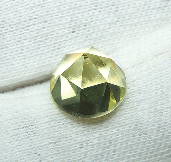Masterpiece Collection : Amazing Lemon Topaz Rose Cut Round Gem, Calibrated 12 x 12 mm Round, 100 % Natural Loose Gemstone Per Wholesale Sample Order Lot/ Parcel