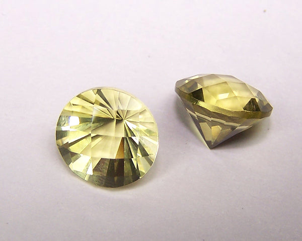 Masterpiece Collection : Amazing Lemon Topaz Checkered Board Top with Diamond Cut Pavilion, Calibrated 10 x 10 mm Round, 100 % Natural Loose Gemstone Per Wholesale Sample Order Lot/ Parcel