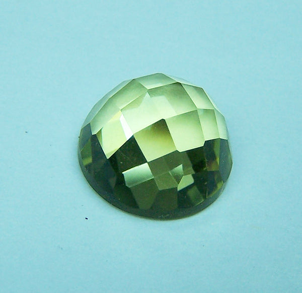 Masterpiece Collection : Amazing Lemon Topaz Checkered Cut Dome Gem, Calibrated 12 x 12 mm Round, 100 % Natural Loose Gemstone Per Wholesale Sample Order Lot/ Parcel