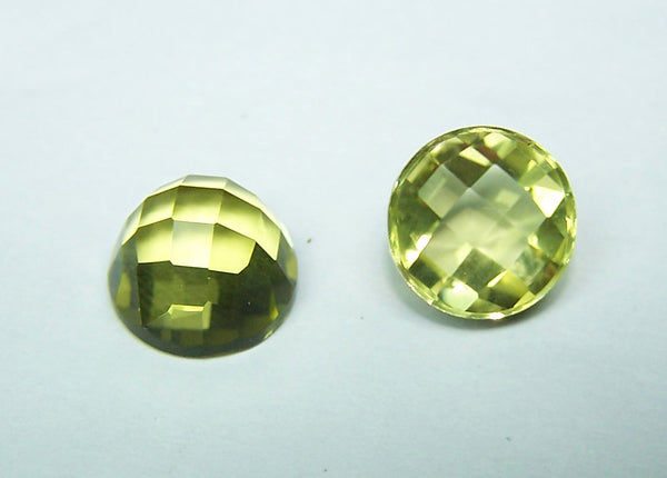 Masterpiece Collection : Amazing Lemon Topaz Checkered Cut Dome Gem, Calibrated 10 x 10 mm Round, 100 % Natural Loose Gemstone Per Wholesale Sample Order Lot/ Parcel
