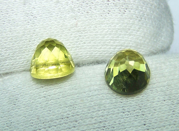 Masterpiece Collection : Amazing Lemon Topaz High Dome Rose Cut Gem, Calibrated 8 x 8 mm Round, 100 % Natural Loose Gemstone Per Wholesale Sample Order Lot/ Parcel