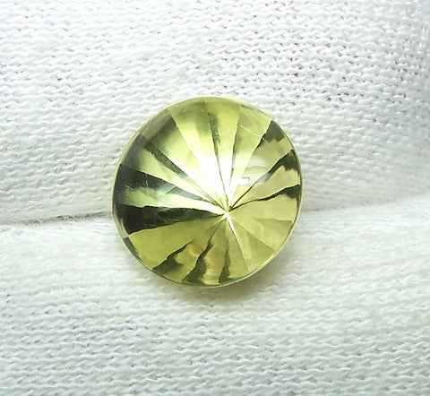 Masterpiece Collection : Amazing Lemon Topaz Buff Top Diamond Cut, Calibrated 12 x 12 mm Round, 100 % Natural Loose Gemstone Per Wholesale Sample Order Lot/ Parcel