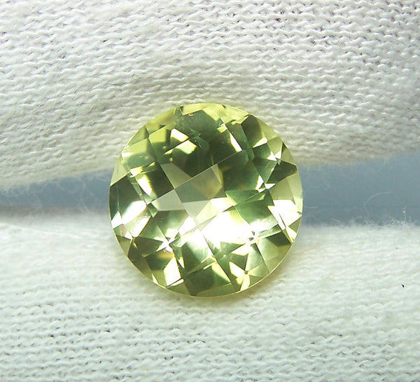 Masterpiece Collection : Amazing Lemon Topaz Checkered Board Cut, Calibrated 12 x 12 mm Round, 100 % Natural Loose Gemstone Per Wholesale Sample Order Lot/ Parcel
