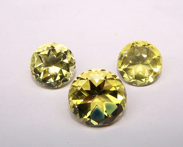 Masterpiece Collection :  Amazing Lemon Topaz And Golden Topaz 12 mm - 10 MM - 8 MM Round Shape gems, Mix Fancy Cuts, Wholesale Sample Order Lot/ Parcel