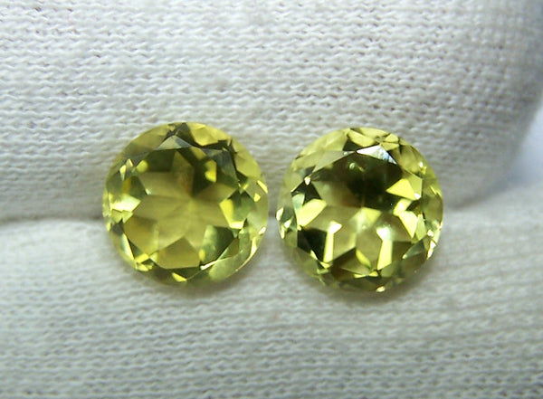 Masterpiece Collection : Amazing Lemon Topaz Star Cut Round, Calibrated 10 x 10 mm Round, 100 % Natural Loose Gemstone Per Wholesale Sample Order Lot/ Parcel