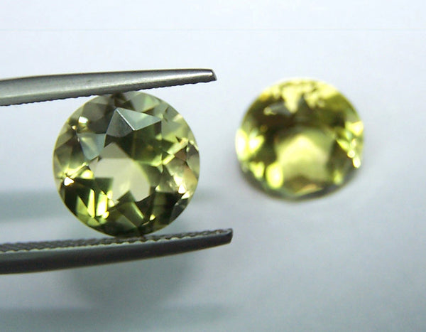 Masterpiece Collection : Amazing Lemon Topaz American Cut Round, Calibrated 10 x 10 mm Round, 100 % Natural Loose Gemstone Per Wholesale Sample Order Lot/ Parcel