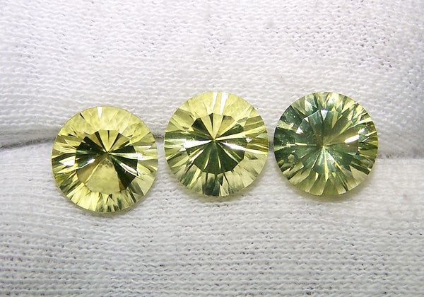 Masterpiece Collection : Amazing Lemon Topaz Concave Cut Round, Calibrated 10 x 10 mm Round, 100 % Natural Loose Gemstone Per Wholesale Sample Order Lot/ Parcel