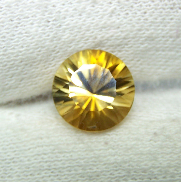 Masterpiece Collection : Amazing Golden Topaz Concave Cut Round, Calibrated 10 x 10 mm Round, 100 % Natural Loose Gemstone Per Wholesale Sample Order Lot/ Parcel