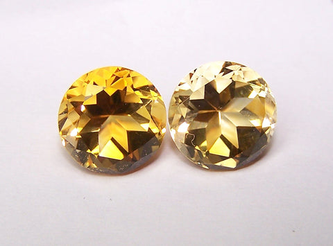 Masterpiece Collection : Amazing Golden Topaz Highlight Brilliant Cut, Calibrated 10 mm Round, 100 % Natural Loose Gemstone Per Wholesale Sample Order Lot/ Parcel