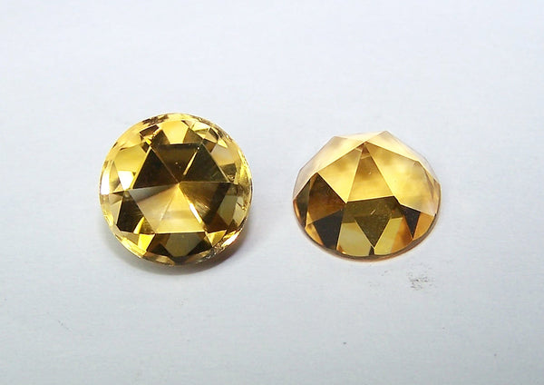 Masterpiece Collection : Amazing Golden Topaz Rose Cut Round Gem, Calibrated 10 x 10 mm Round, 100 % Natural Loose Gemstone Per Wholesale Sample Order Lot/ Parcel