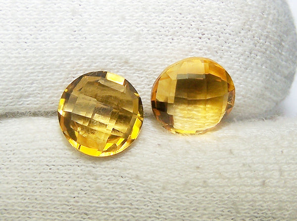 Masterpiece Collection : Amazing Golden Topaz Briolette Cut, Calibrated 10 mm Round, 100 % Natural Loose Gemstone Per Wholesale Sample Order Lot/ Parcel