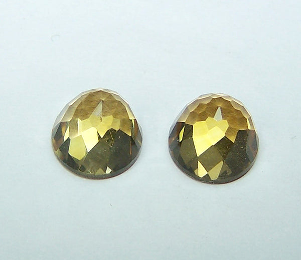 Masterpiece Collection : Amazing Golden Topaz High Dome Rose Cut Gem, Calibrated 8 x 8 mm Round, 100 % Natural Loose Gemstone Per Wholesale Sample Order Lot/ Parcel
