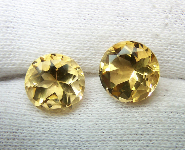 Masterpiece Collection : Amazing Golden Topaz American Cut Round, Calibrated 10 x 10 mm Round, 100 % Natural Loose Gemstone Per Wholesale Sample Order Lot/ Parcel
