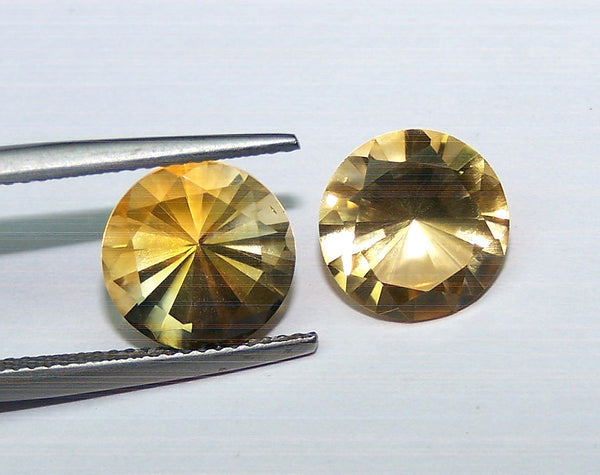 Masterpiece Collection : Amazing Golden Topaz Brilliant Diamond Cut, Calibrated 10 mm Round, 100 % Natural Loose Gemstone Per Wholesale Sample Order Lot/ Parcel