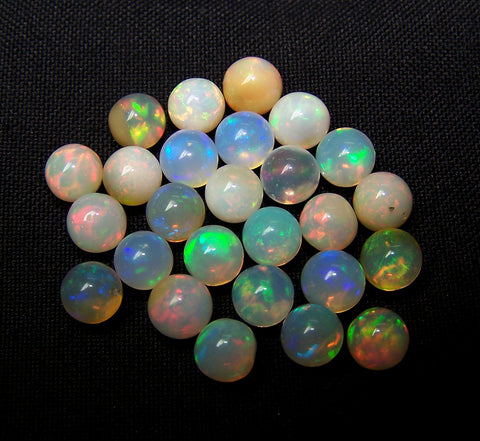 Masterpiece Ultra Rare Insane Multi Rainbow Fire Color Play Ethiopian Welo Opal 6 to 6.5 MM Round Sphere Balls AAA Wholesale Lot / Parcel
