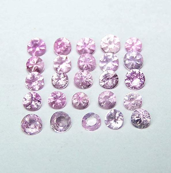 Masterpiece Collection : Amazing Hot Pink Sapphire Calibrated 2.5 to 2.9 mm Brilliant Diamond Cut Round Gems, 100 % Natural Loose Gemstone Wholesale Sample Parcel/Lot AAA