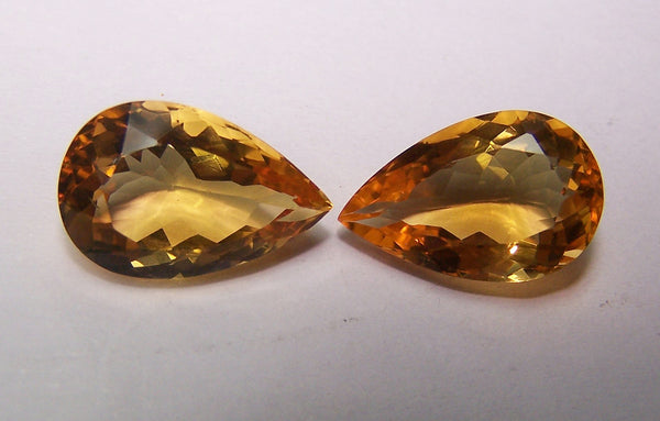 Beautiful Pear Cut Golden Citrine Gemstone AAA, Matched Close Pairs,100 % Natural : Wholesale Lot/Parcel