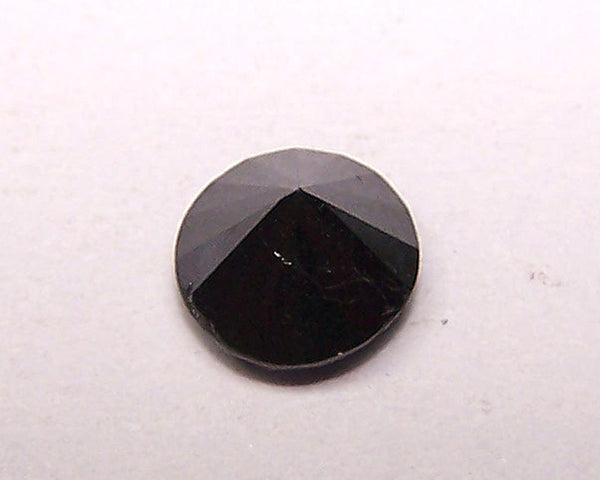Magnificent 1.44 cts Pitch Black Diamond Solitaire Brilliant Cut Round > Loose Gemstone AAA
