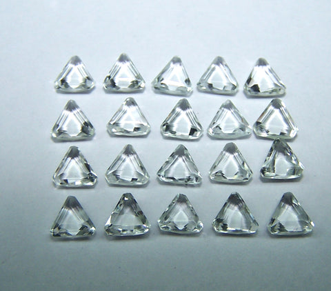 Masterpiece Calibrated 5 x 5 mm Triangle Shape Rose Cut African White Topaz 100 % Natural, IF/VVS Loose Gemstone Lot/Parcel
