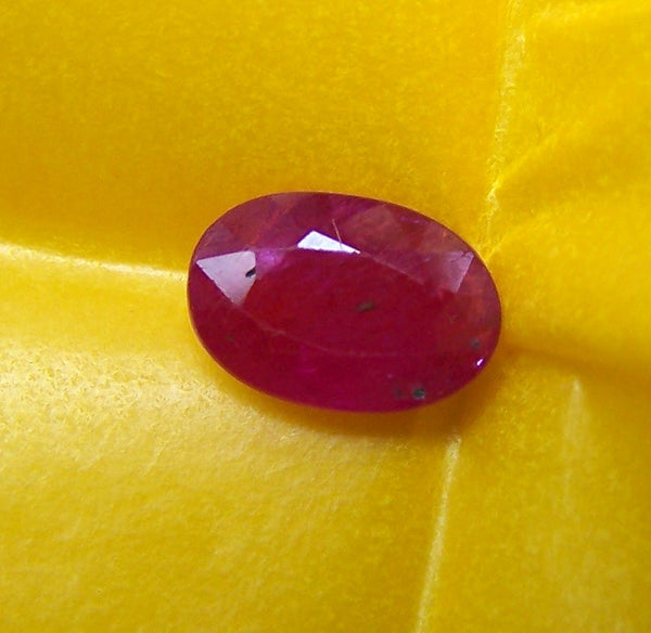 2.40 cts Mozambique Ruby Faceted Oval Gem, Great color, Semi-Translucent, Loose Gemstone AAA