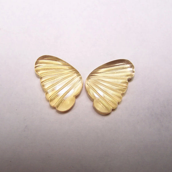 Custom Made Citrine Butterfly Wings Shaped Hand Carved Gems, Sample Pieces Loose Gems,100 % Natural AAA