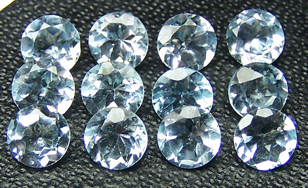 Masterpiece Calibrated 5 mm Round Cut Sky Blue Topaz 100 % Natural, Loose Gemstone Lot/Parcel