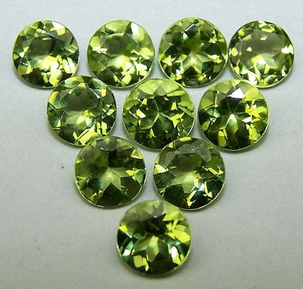 Masterpiece Calibrated 5 mm Round Cut Fine Peridot, 100 % Natural Loose Gemstone AAAd