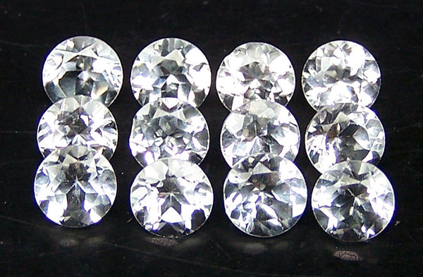 Masterpiece Calibrated 4 mm Round Cut African White Topaz 100 % Natural, IF/VVS Loose Gemstone Lot/Parcel