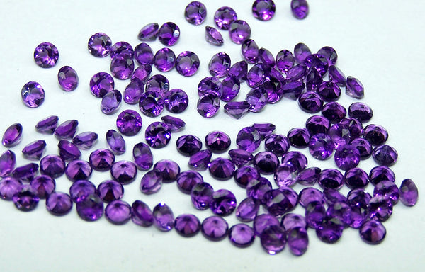 Amazing Hot Purple-Blue Shade of Masterpiece Calibrated 3 mm Round Cut African Amethyst, 100 % Natural Loose Gemstone