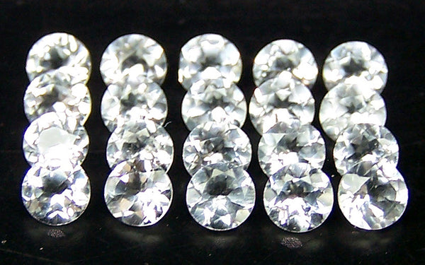 Masterpiece Calibrated 3 mm Round Cut African White Topaz 100 % Natural, IF/VVS Loose Gemstone Lot/Parcel