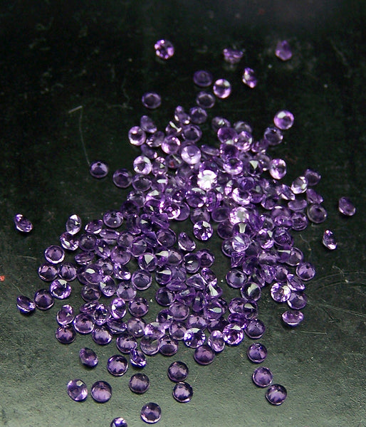 Amazing Hot Purple-Blue Shade of Masterpiece Calibrated 1.5 mm Round Cut African Amethyst, 100 % Natural Loose Gemstone