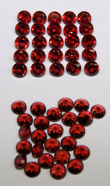 Masterpiece Calibrated 4 mm Round Cut Amazing Hot Orange-Brown Mozambique Garnet, 100 % Natural Loose Gemstone Wholesale Parcel/Lot