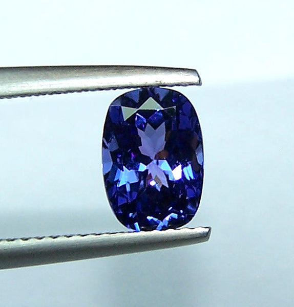 1.76 Cts Cornflower Blue Tanzanite Long Cushion D Block AAA Natural Gemstone > Rich Blue >For Engagement Ring,Pendant,Bracelet and more...