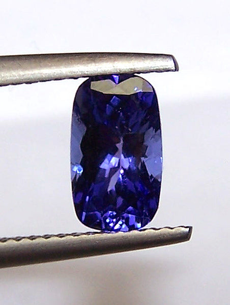 1.84 Cts Cornflower Blue Tanzanite Long Cushion D Block AAA Natural Gemstone > Rich Blue >For Engagement Ring,Pendant,Bracelet and more...