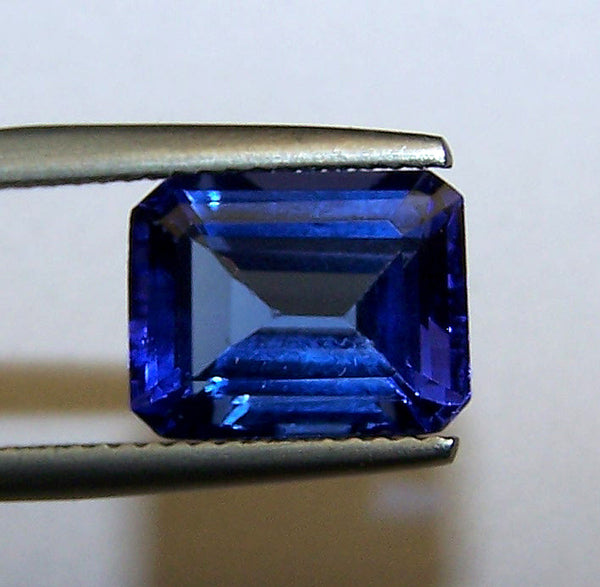Unique 4.35 Cts Certified Natural Loose Tanzanite Emerald Cut Octagon D Block AAA Gemstone > Rich Blue >For Engagement Ring,Pendant,Bracelet, Necklace and more...